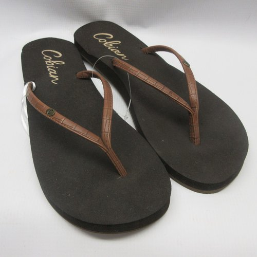 81ebd0f00bf Cobian Sandals Women Nias Bounce Flip Flops in Chocolate Size 9 ...
