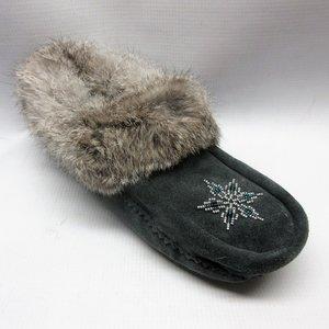 e4aada64146 manitobah-slippers-women-moccasin-fur-trim-charcoal-grey-