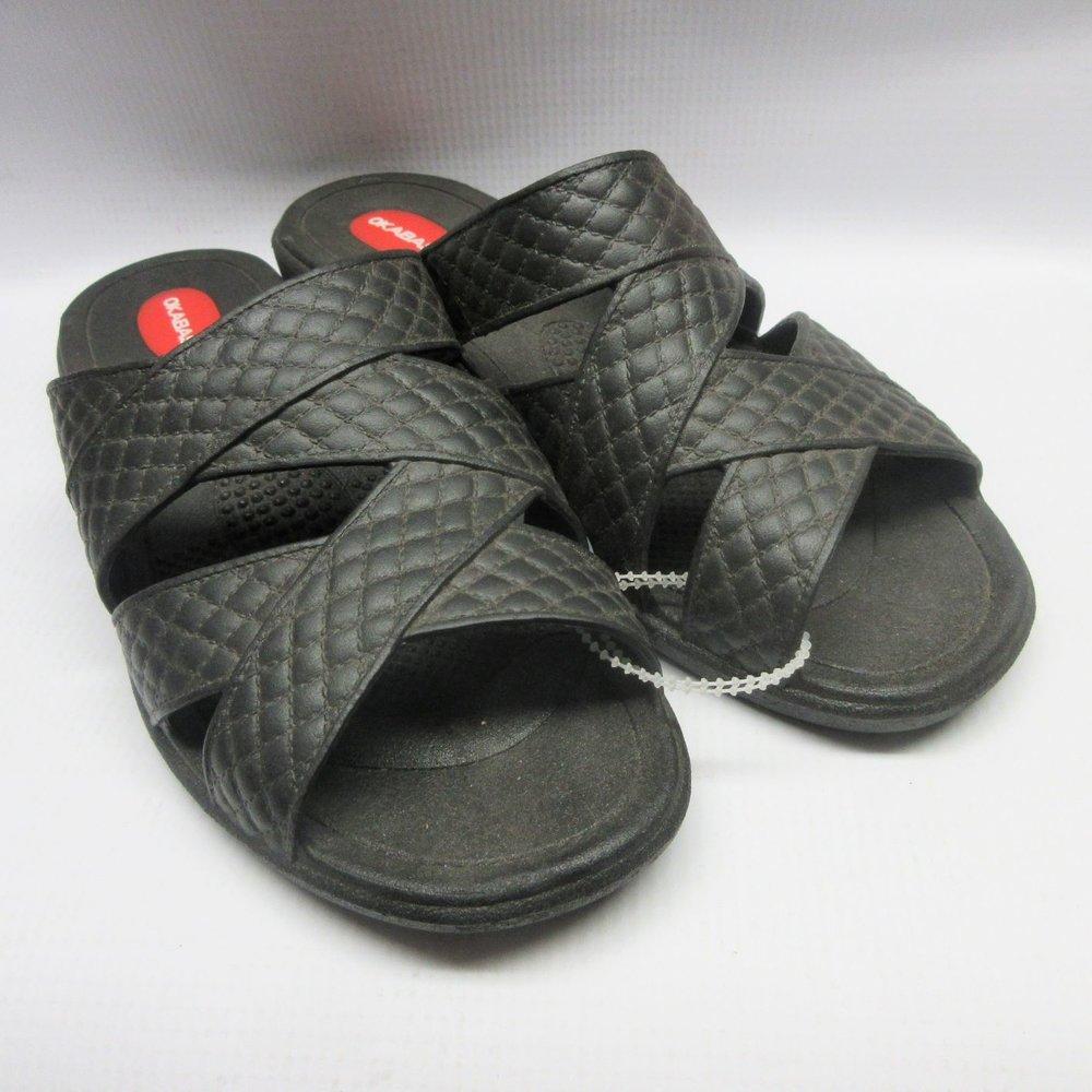 23aa17ed053ee1 Okabashi Sandals Women Cross-Strap in Black Size Small — Cabaline
