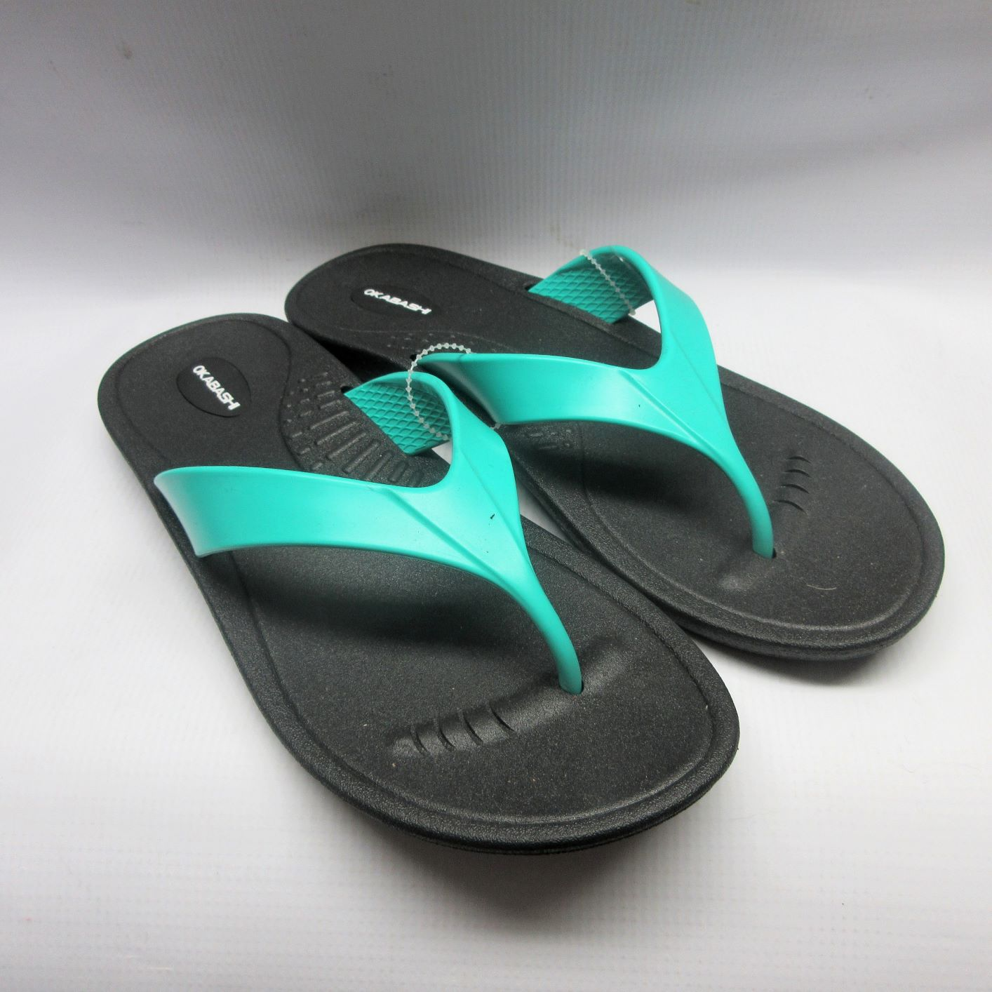 aaf7bff48c360 Okabashi Sandals Women Marina Flip Flops in Black Sea Size Large — Cabaline