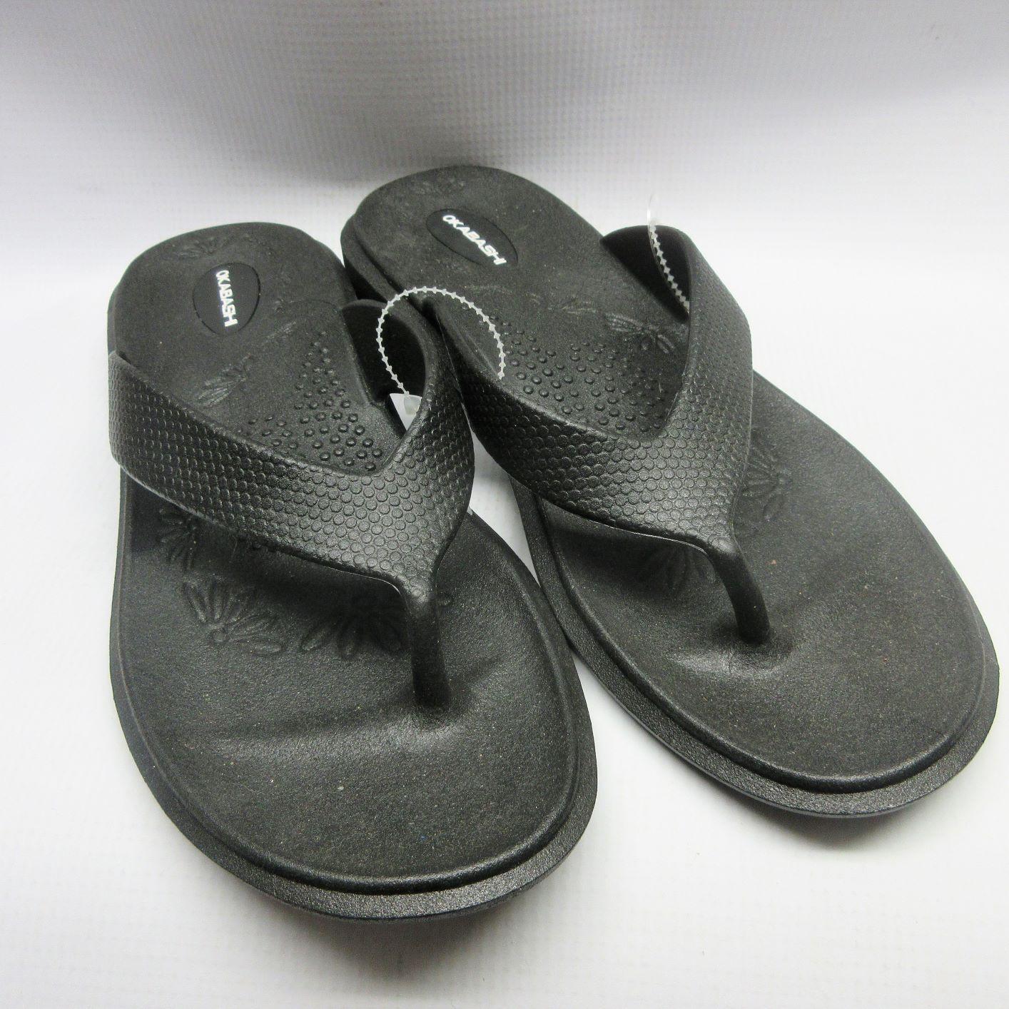 e676c31c17287 Okabashi Sandals Women Maui Flip Flops in Black — Cabaline