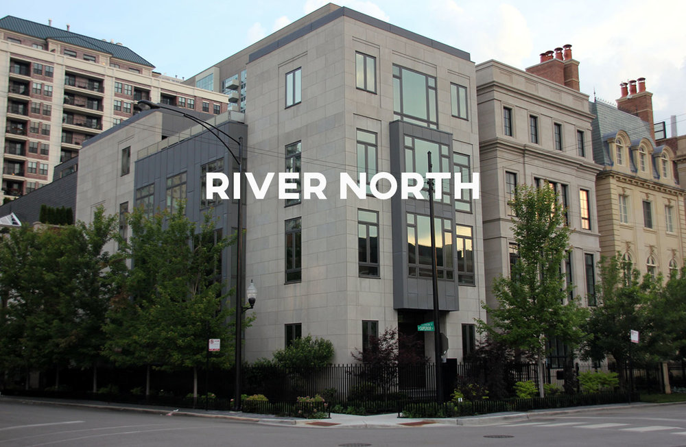 River North - The hub of downtown entertainment, full of dining, galleries, and shopping