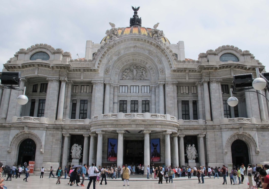 The Palacio de Bellas Artes in the Centro Historico