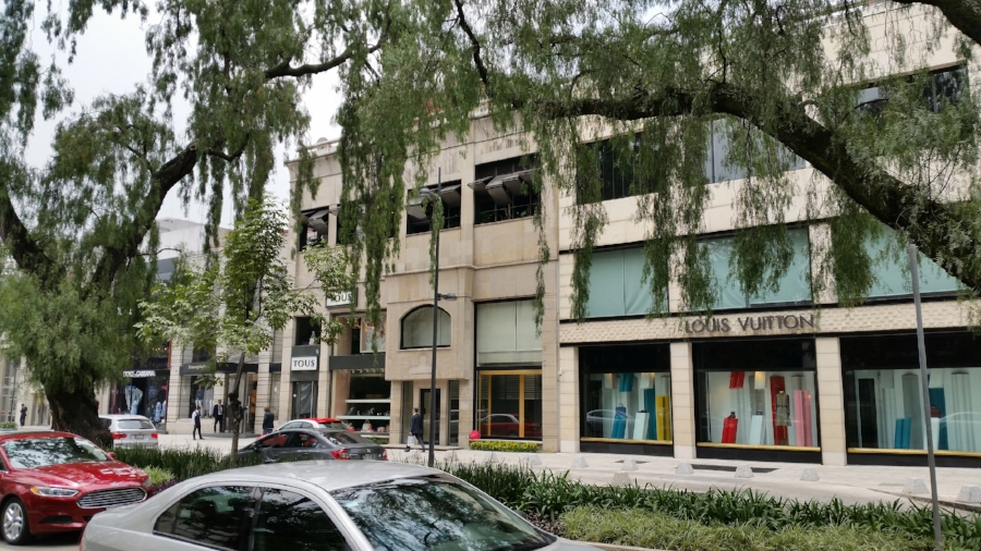 The neighborhood of Polanco has a cosmopolitan feel with many upscale stores and restaurants