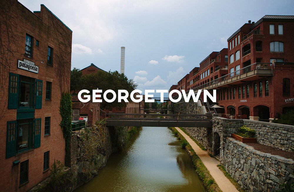 Georgetown - A bustling area full of shopping, eating, walking, and education
