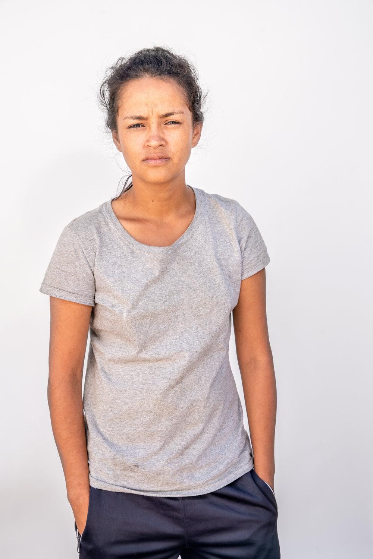 """""""Ahí vamos, haciendo la lucha pa' arriba."""" - dijo Dayana Carolina Castillo en la Ciudad de México.""""Yo lo que quiero es irme a mi casa. Tener donde vivir, eso es todo. Luego regresar pa' mi país"""""""