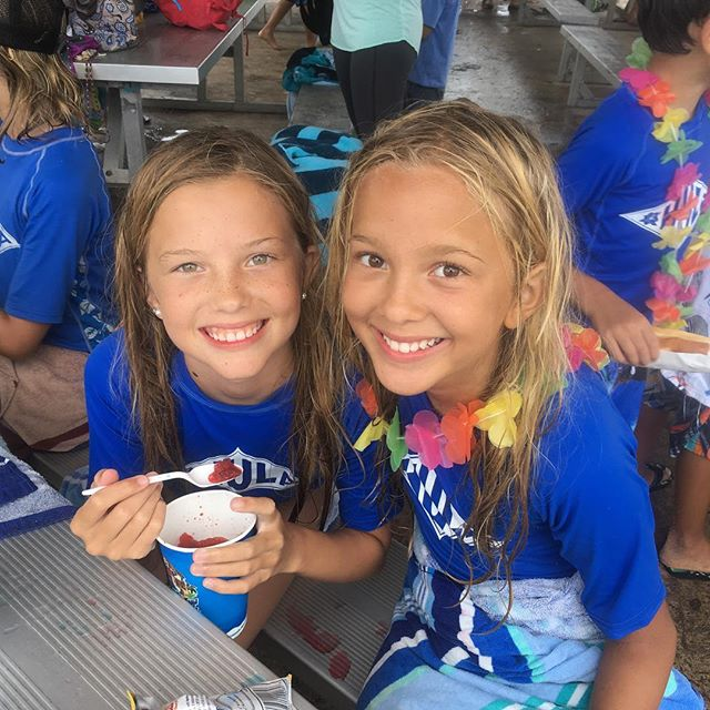 We had a great day today with a beach clean up, paddle races, raft time, and of course surfing! And what better way to end the day than with cool and refreshing Kona Ice! It's been a great week and we're all excited for tommorw, our last day at Hula Surf and Paddle School #summertime #summer #beachcleanup #konaice #summercamp #surfcamp #surfing