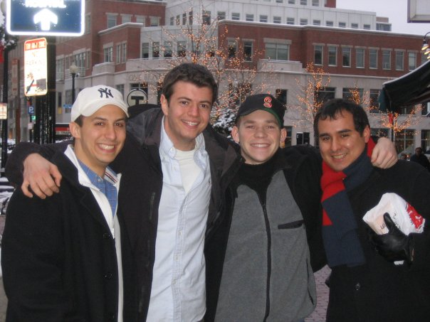 Visiting Harvard Square in 2006 with John, Dan & Camilo