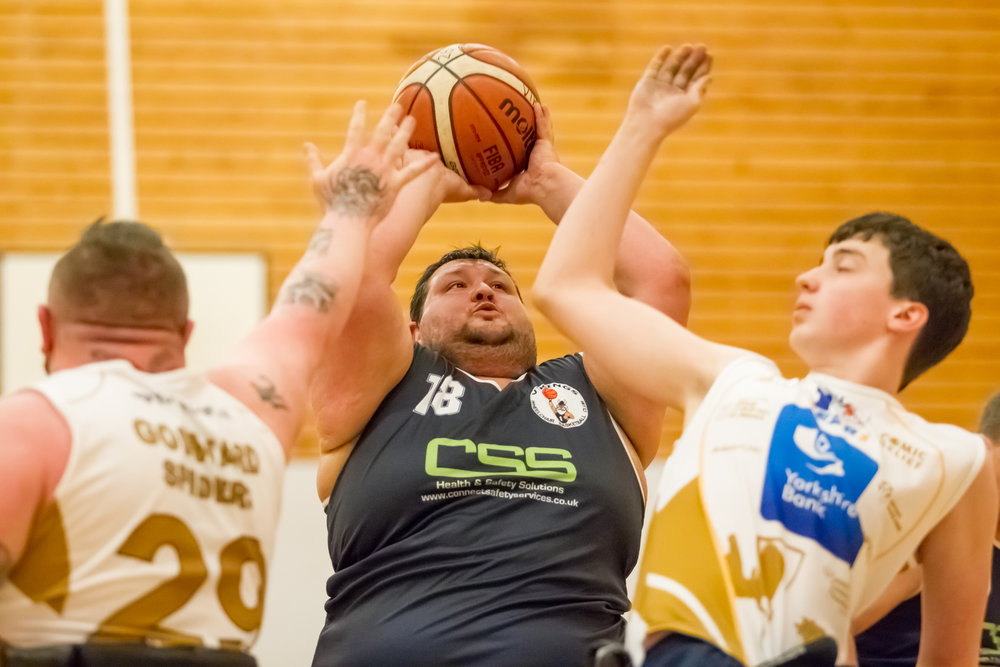 Vikings wheelchair basketball action