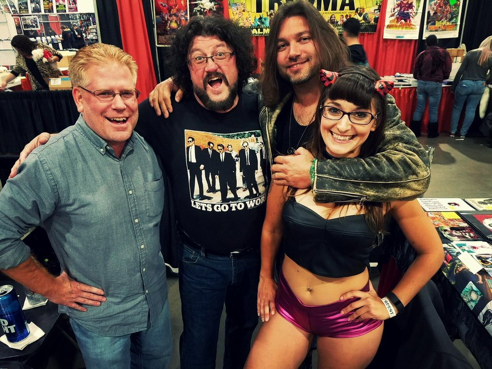 From (L) to (R): Mark Bloodworth, Stuart Kerr, Derek Rook and Sarah Michelle at the 2016 ROCK AND SHOCK convention in Worcester, MA.