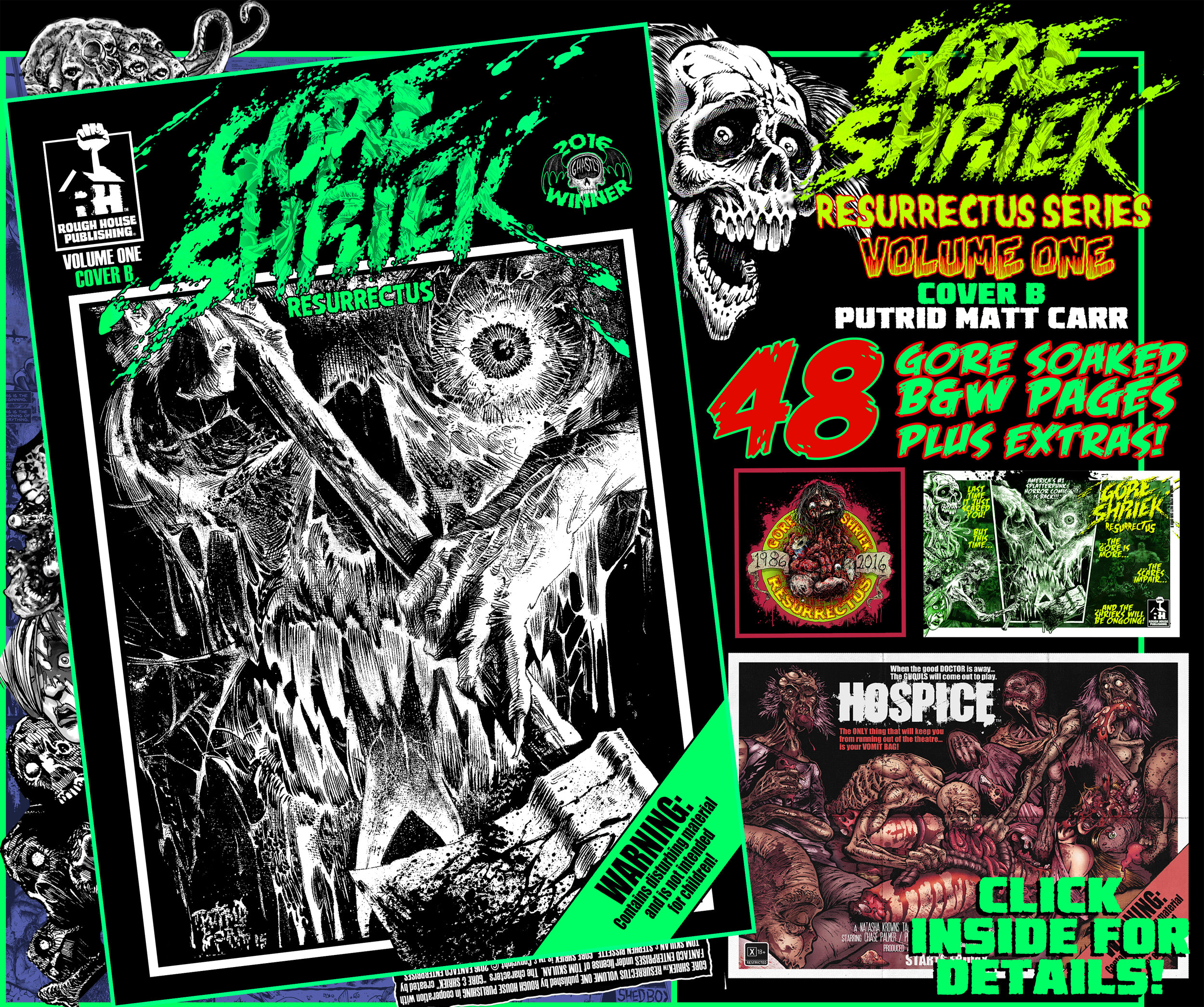 Gore Shriek Resurrectus Volume One Cover B Putrid Matt Carr Rough House Publishing
