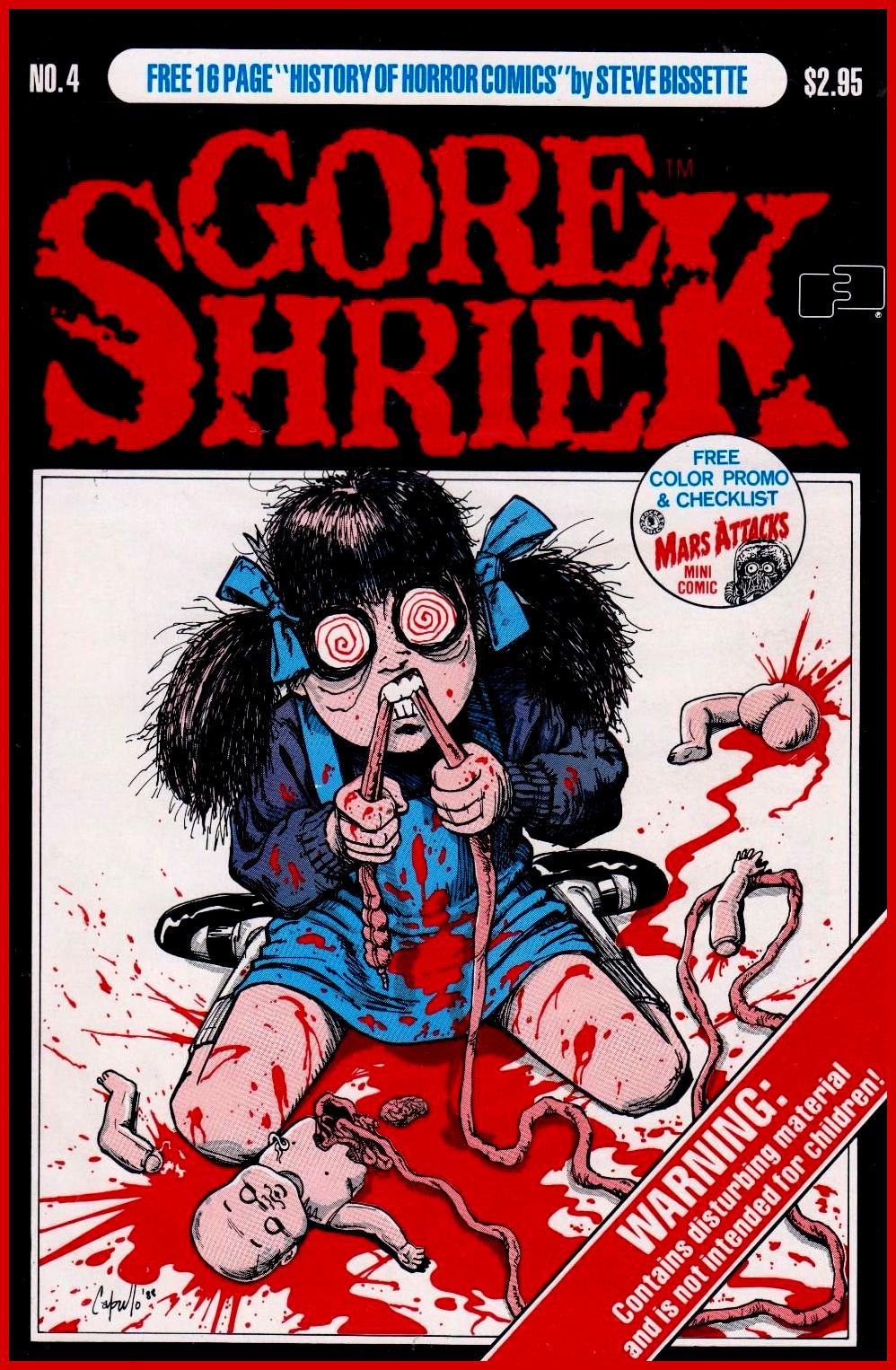 GORE SHRIEK Vol. 1 #4 52PP RELEASED 1988.
