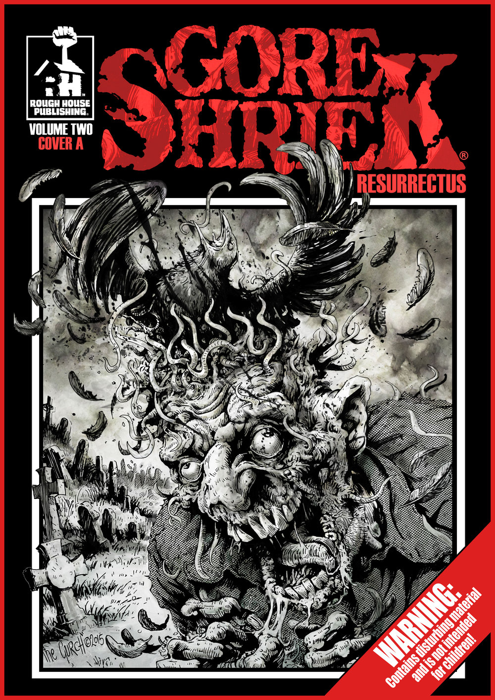 PREVIEW FRONT COVER - GORE SHRIEK RESURRECTUS VOLUME TWO (COVER A - THE GURCH). COMING SPRING 2019.