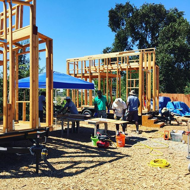 The Ebenezer's Group was out here this weekend working on their TWO tiny homes. Thank you Ebenezer's!