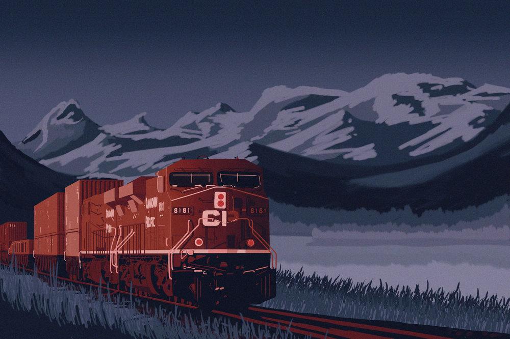 CP Railway Poster Design