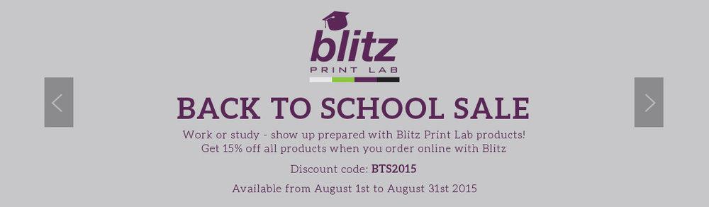 Blitz Print Lab Back to School Banner