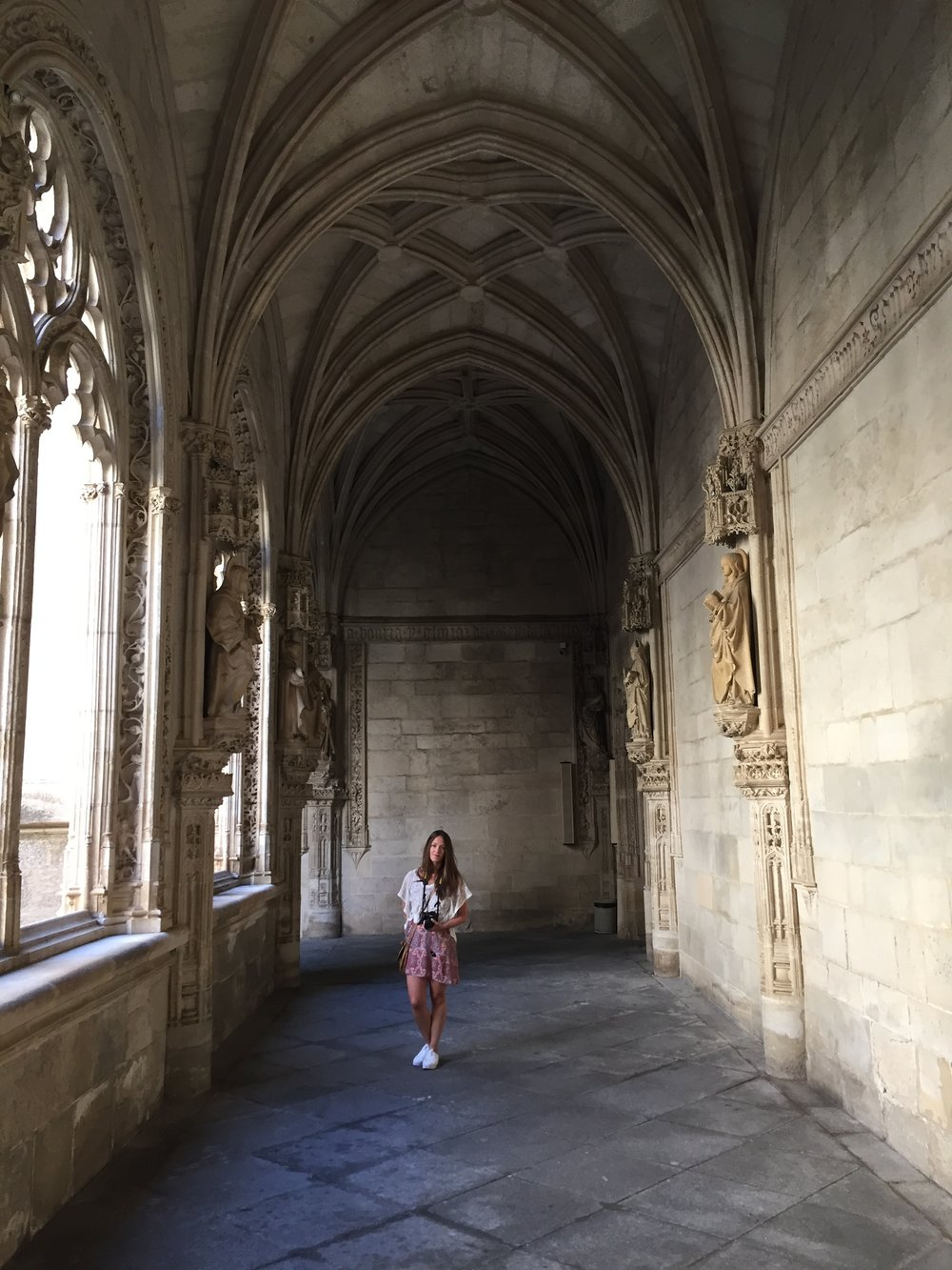 Wandering the beautiful halls of the Monastery of San Juan de los Reyes