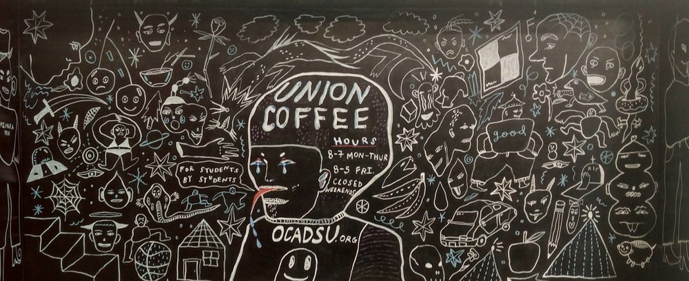 Mural commissioned by Union Coffee at OCAD U, 2016