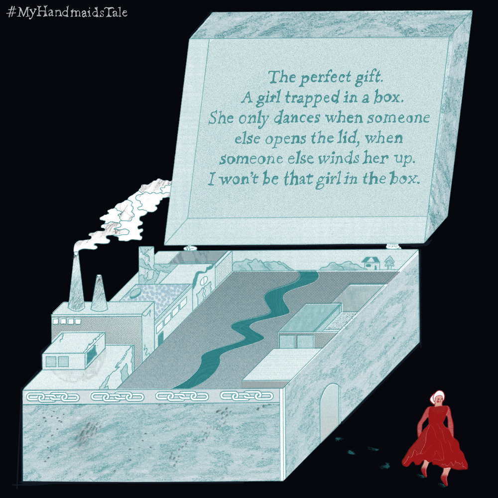 Advertising campaign for The Handmaids Tale (TV series), showcased on Hulu
