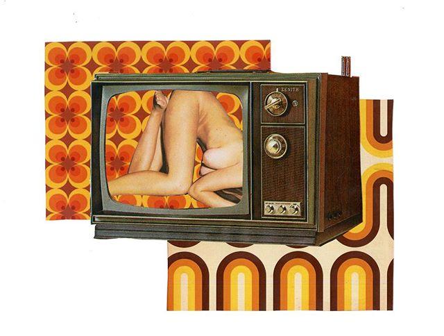 Boob tube 🌼🍑🍄 . . . . . . . . . . . . . #collage #boob #boobart #boobtube #nude #art #artwork #artist #graphicdesign #graphic #graphicdesigner #la #losangeles #new #work #70s #retro #fashion #vintage #color #femaleempowerment #feminism #60s #freethenipple #freelove #beauty #body
