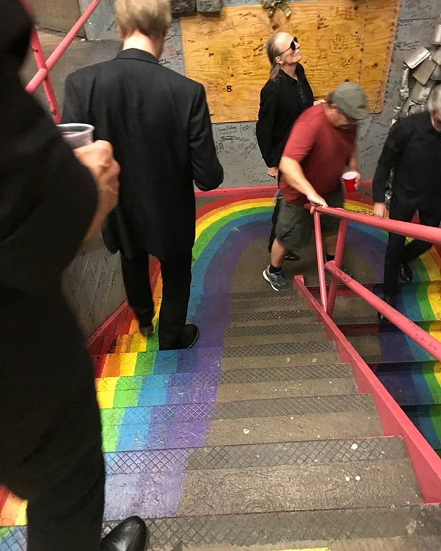 Tonight at Civic Auditorium we found the stage and a terrific audience at the end of this rainbow!