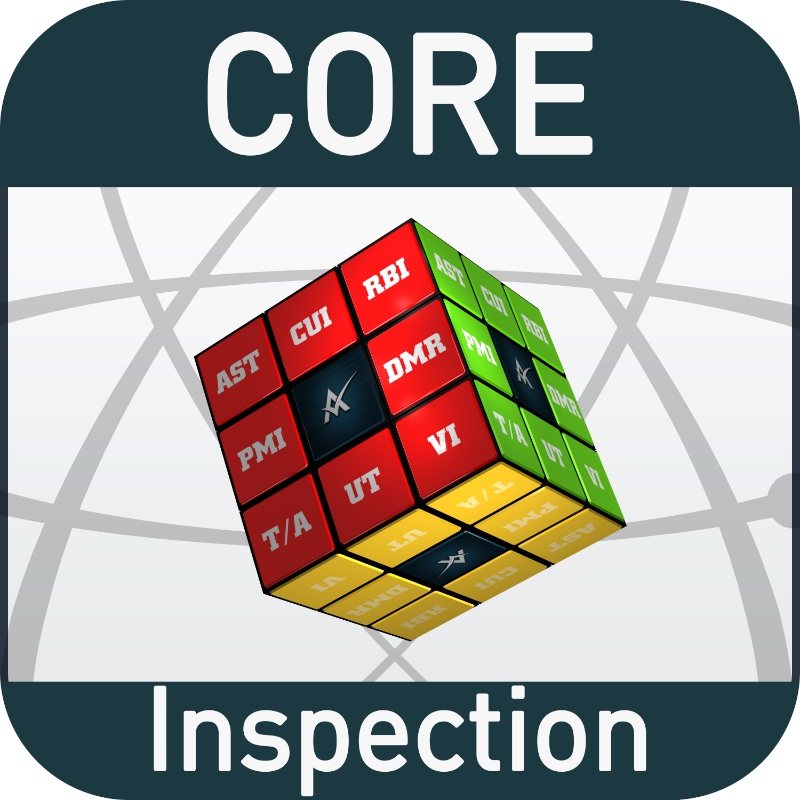 CORE Inspection Mobile App (COMING SOON - in beta) - Developed with the user end mind. Providing modern accessible software downloadable from the Apple App store for iOS Devices (iPhone and iPad). Download today start creating locations, calculating Tmin and MAWP, and executing inspections free costs for a single user. No login required, just access to the Apple App store.