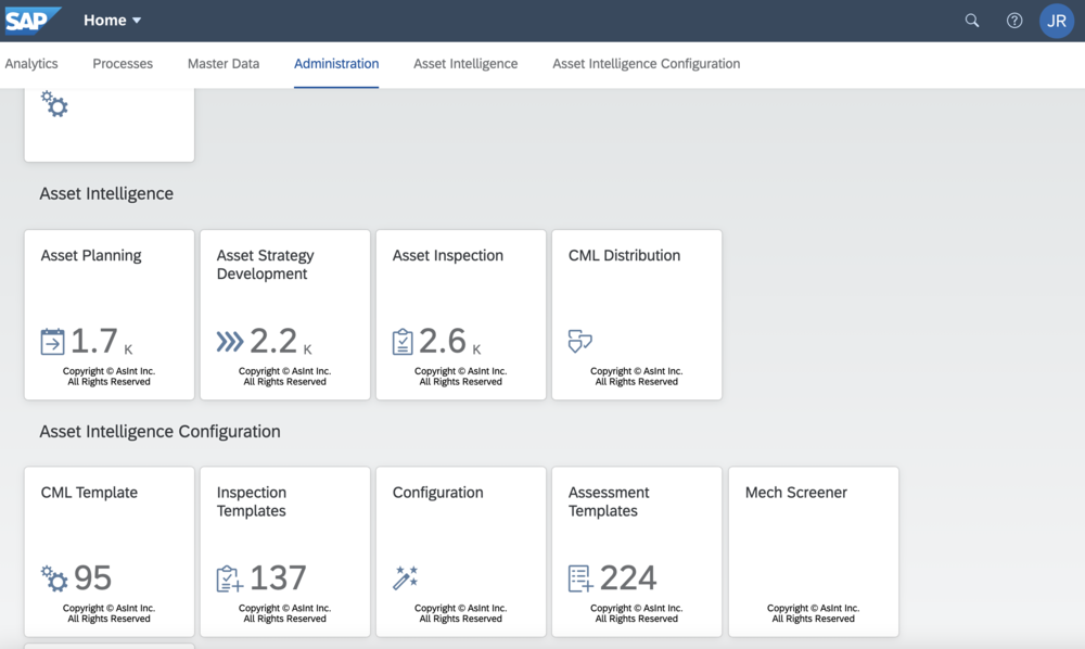 CORE Inspection for SAP as a Tile App within SAP