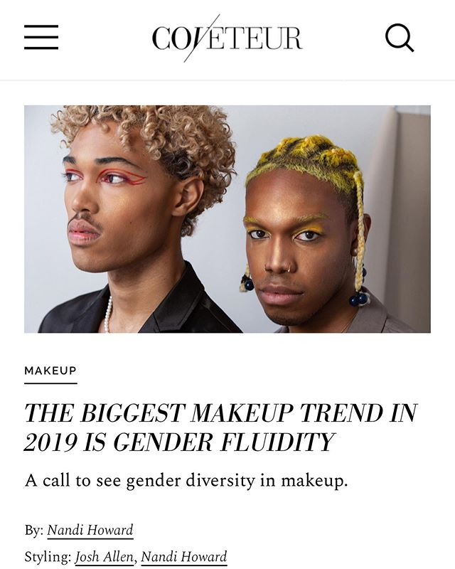 cat's out the bag, trades wear makeup too! check out my interview with @coveteur on gender fluidity ❤️