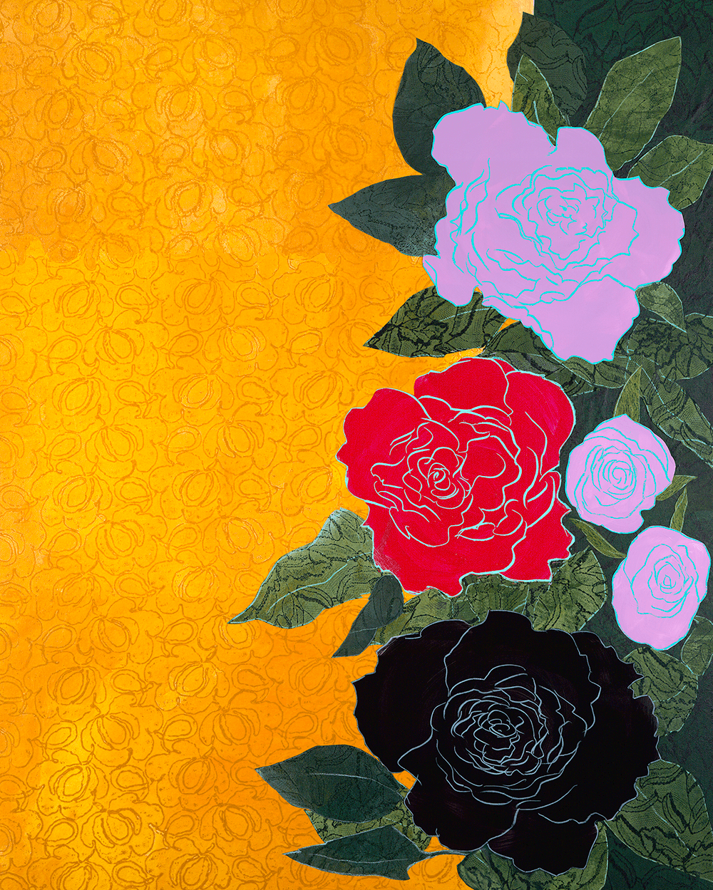 5 Roses 25 x 30 inches