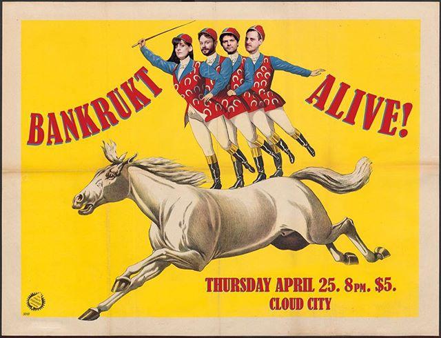 Bankrukt comes Alive Thursday the 25th at Cloud City!