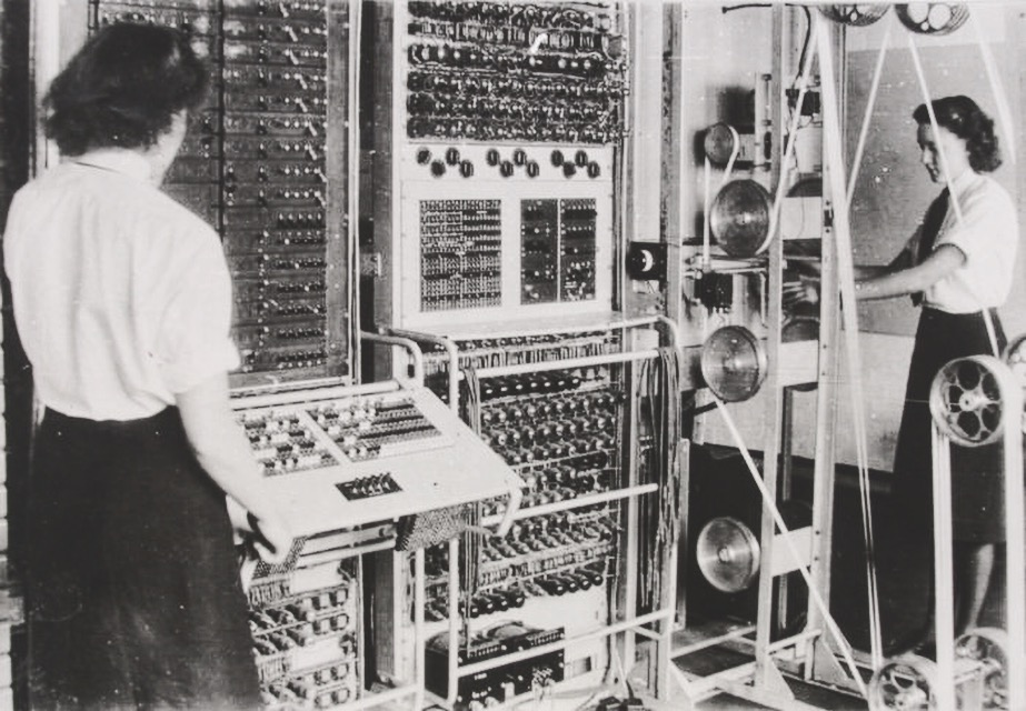 women in the British Royal Navy operating the earliest digital, electronic, programmable computer-- the Colossus, in 1944