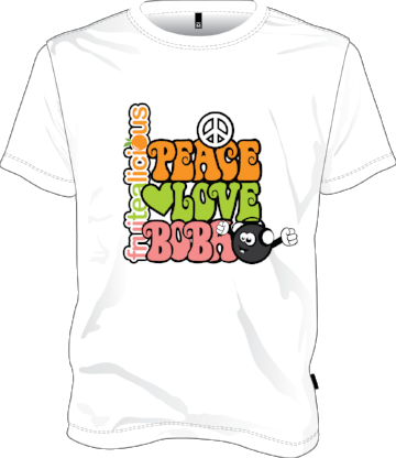 Peach Love Boba T SHirt.png