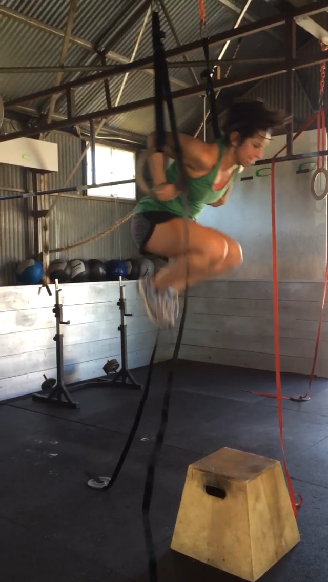 My first rings muscle-up, 2014.