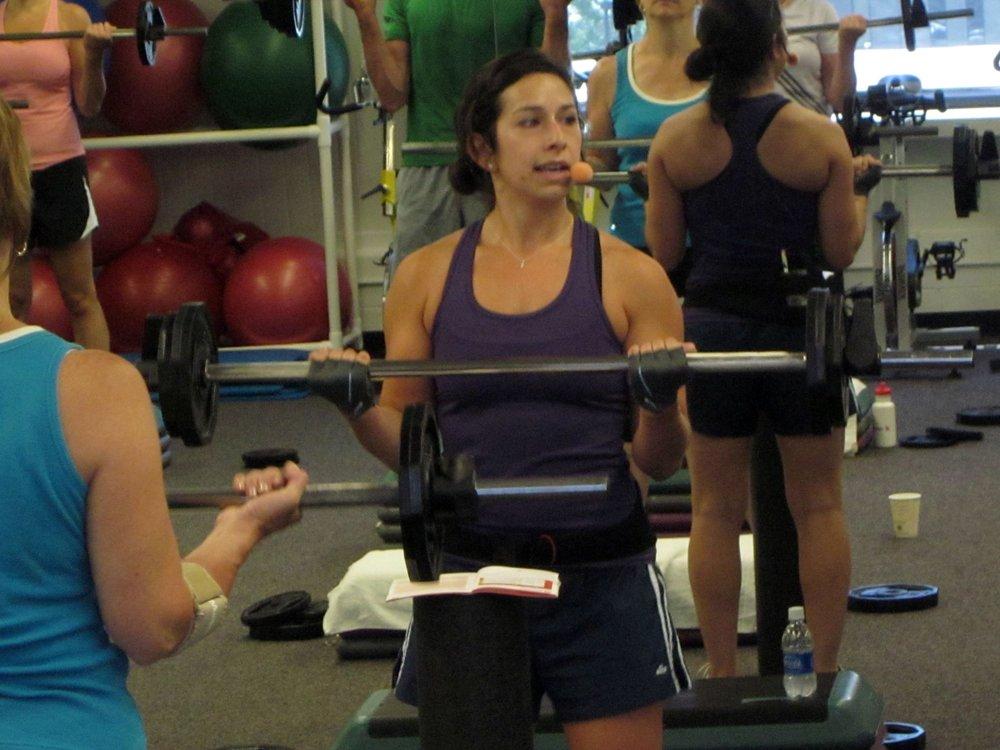 Teaching Body Pump at Aramark!