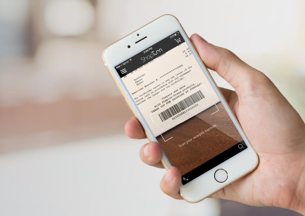 Users scan their item receipt and tag with the ShopTurn mobile app.
