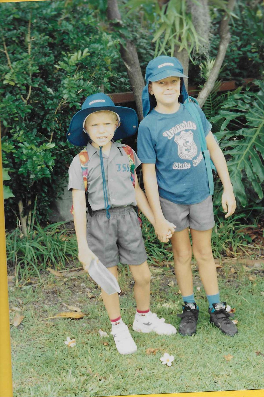 Nicholas (left) with his brother, Nathanael, in 1994.