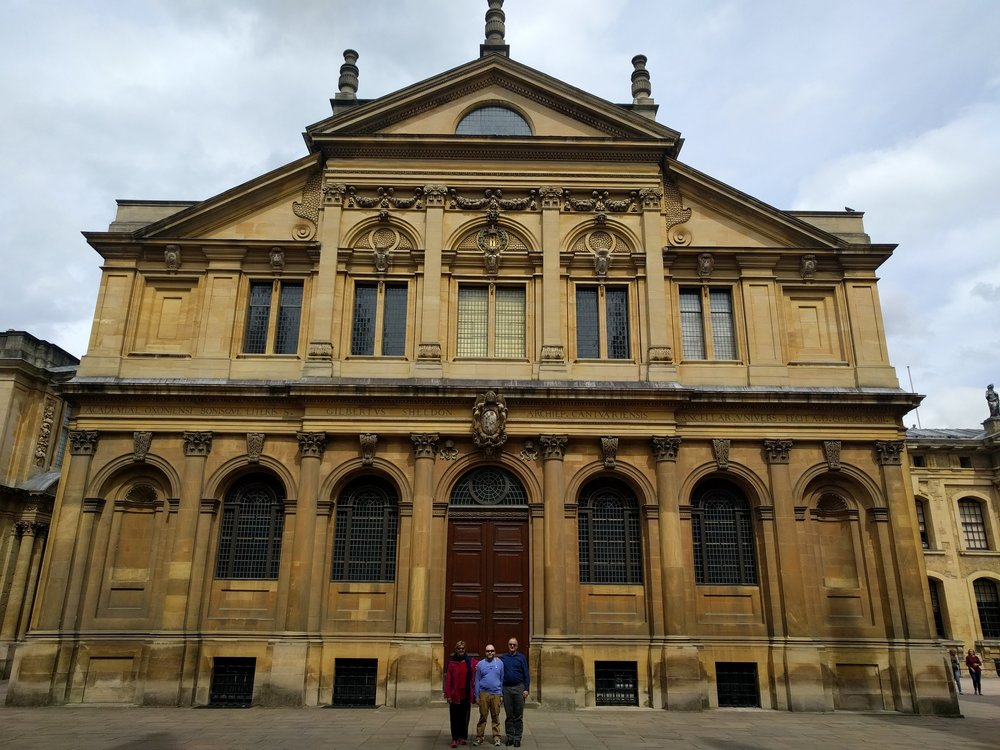 The back of the Sheldonian Theatre, the place for Nicholas' graduation.