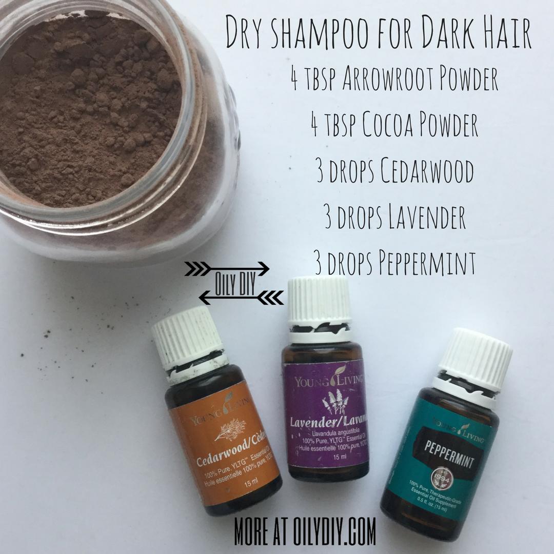 dry shampoo for dark hair — oily diy