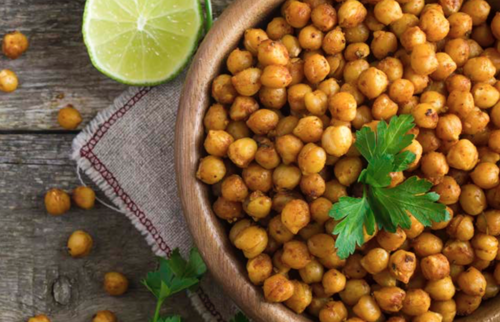 Spiced Chickpeas with Rotisserie Chicken →  -