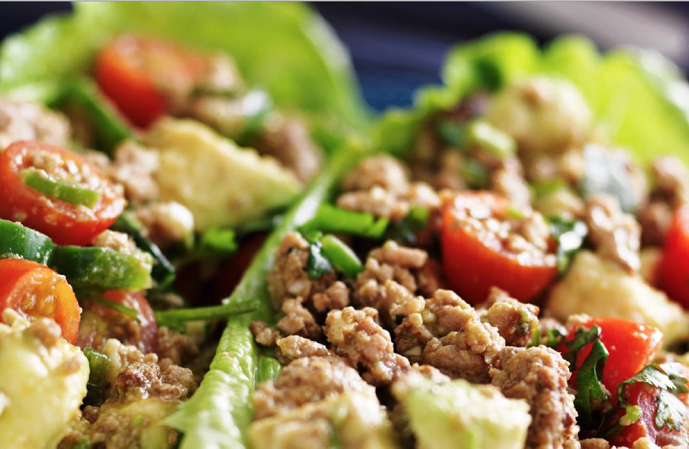 Turkey Lettuce Wraps → -