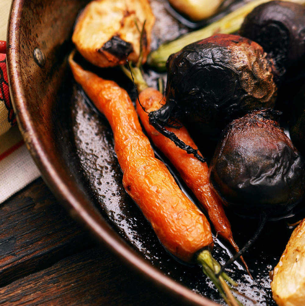 Roasted Root Vegetables → -