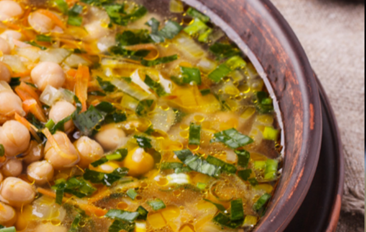 Italian Herb & Chickpea Soup → -