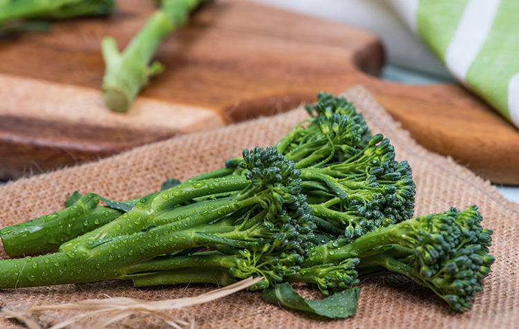 Broccolini with Sea Bass → -