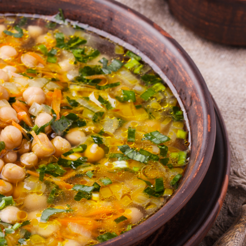 Italian Herb and Chickpea Soup→ -