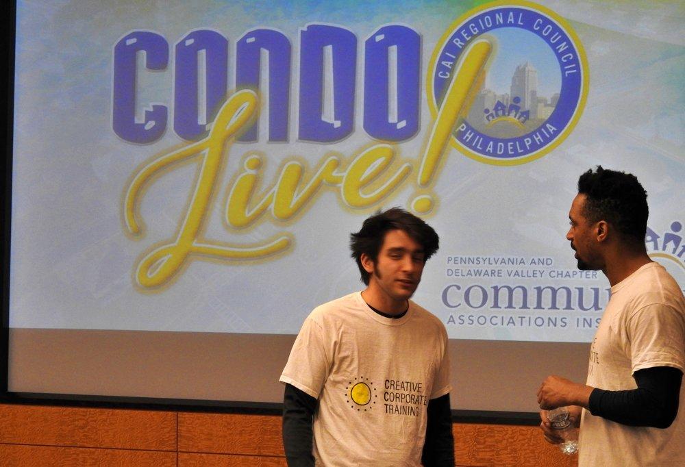 Josh Kirwin and Carlo Campbell perform a scenario