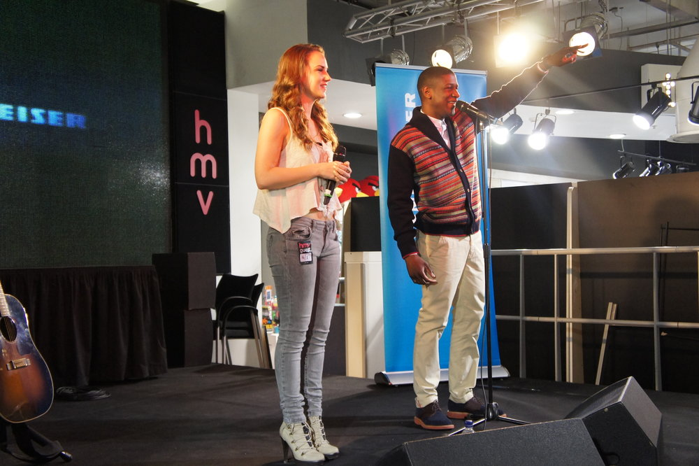 On stage with Labrinth at HMV London