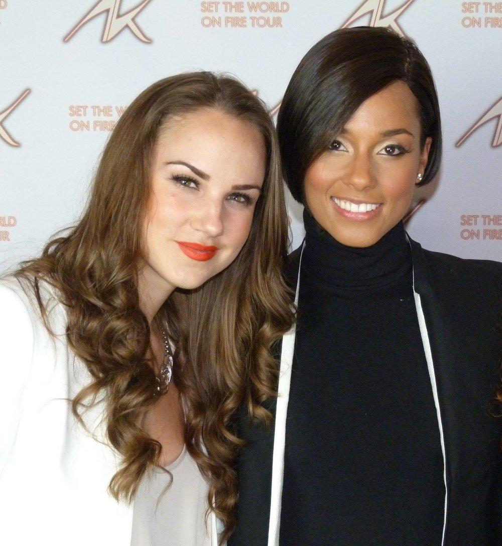 Meeting my idol Alicia Keys