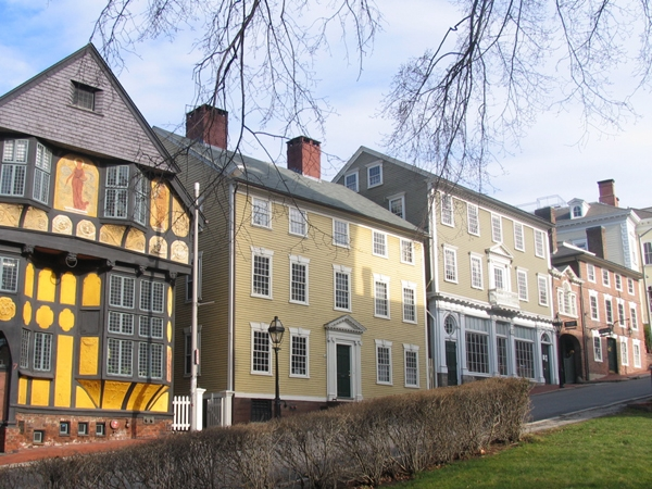 My studio is located on the first floor of the Deacon  Taylor House at the Providence Art Club , it's  the yellow colonial building.