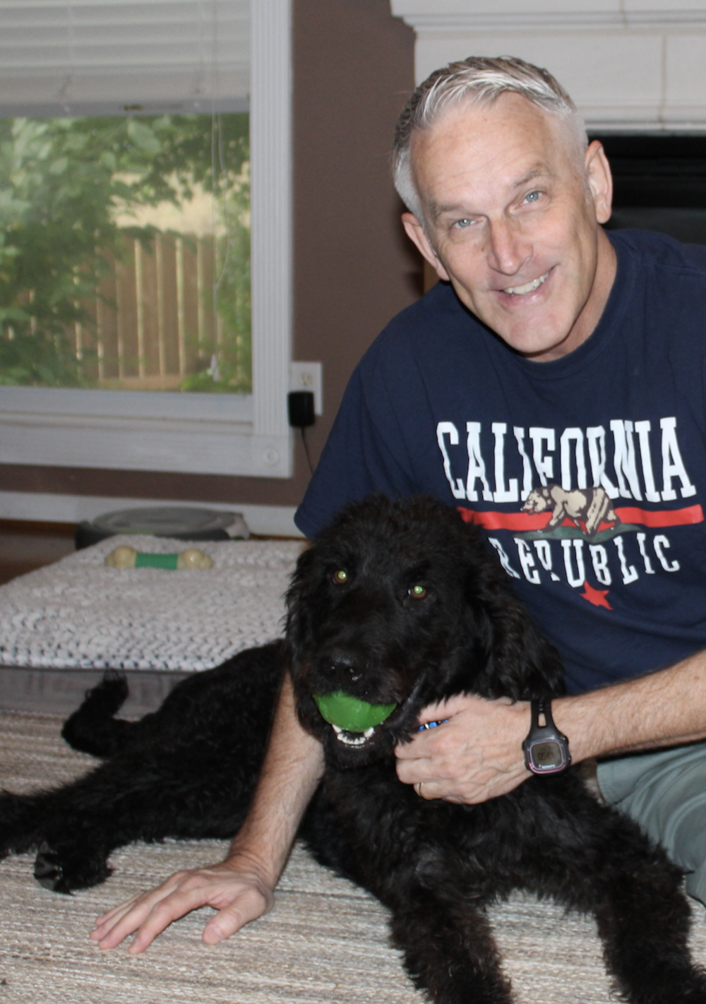 Toby - Our newest member of the trauma-informed learning team (in-training).Toby is a sweet labradoodle mix that was neglected by his previous owner. When I found him at a shelter he was all bones and seeking love. He loves to play with his toys as you can see in the picture. He also loves cuddles and fetching balls.