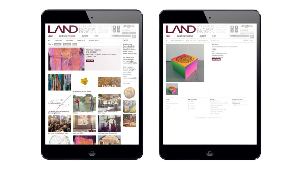 Land - Web design
